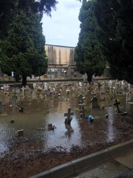 Allagato il cimitero di Siracusa