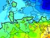 Netta differenza di temperature a circa 1400 m di quota fra Centro-Nord e Sud Italia ( rischio fenomeni violenti )