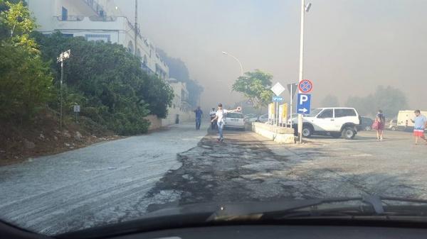 Incendio fra Porto Badisco e Santa Cesarea Terme