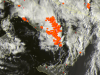 Violenti temporali visti dal satellite fra Lazio, Abruzzo, Molise, Campania e nord Puglia