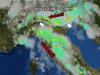 Violenti temporali al Centro-Nord - scatto del radar ore 16.30
