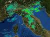 prima piogge in atto sull'Italia viste dal radar della protezione civile