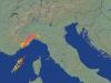 Fulmini individuati dal radar fra Piemonte e Liguria