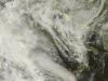 Scatto attuale del satellite che mostra l'estesa nuvolosità verso l'Italia, molto sterile ma ricca di sabbia
