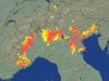 Fulmini rilevati dai radar
