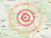 Epicentro sisma di magnitudo 3.4