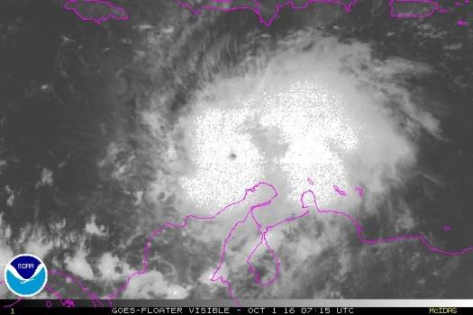 Uragano Matthew nella sua categoria 5, foto di oggi