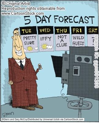 La previsione a 5 giorni