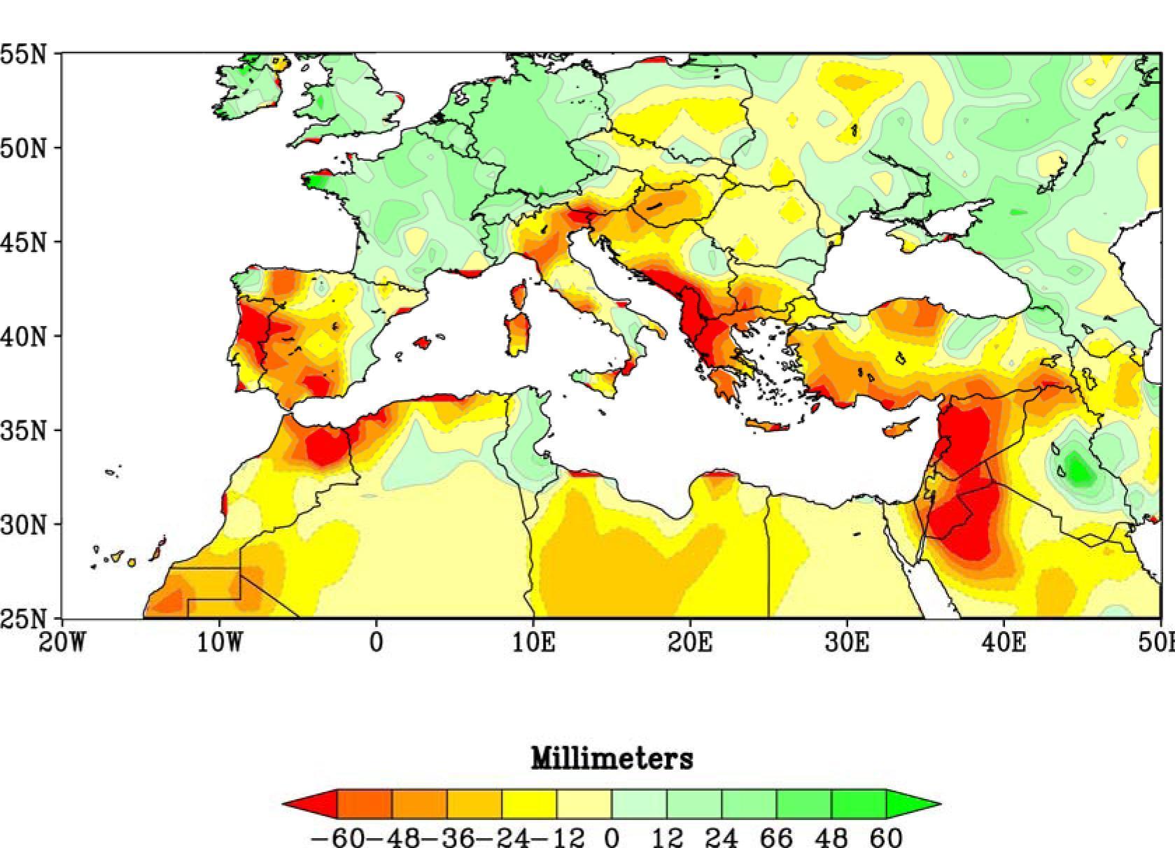 Siccità nel Mediterraneo