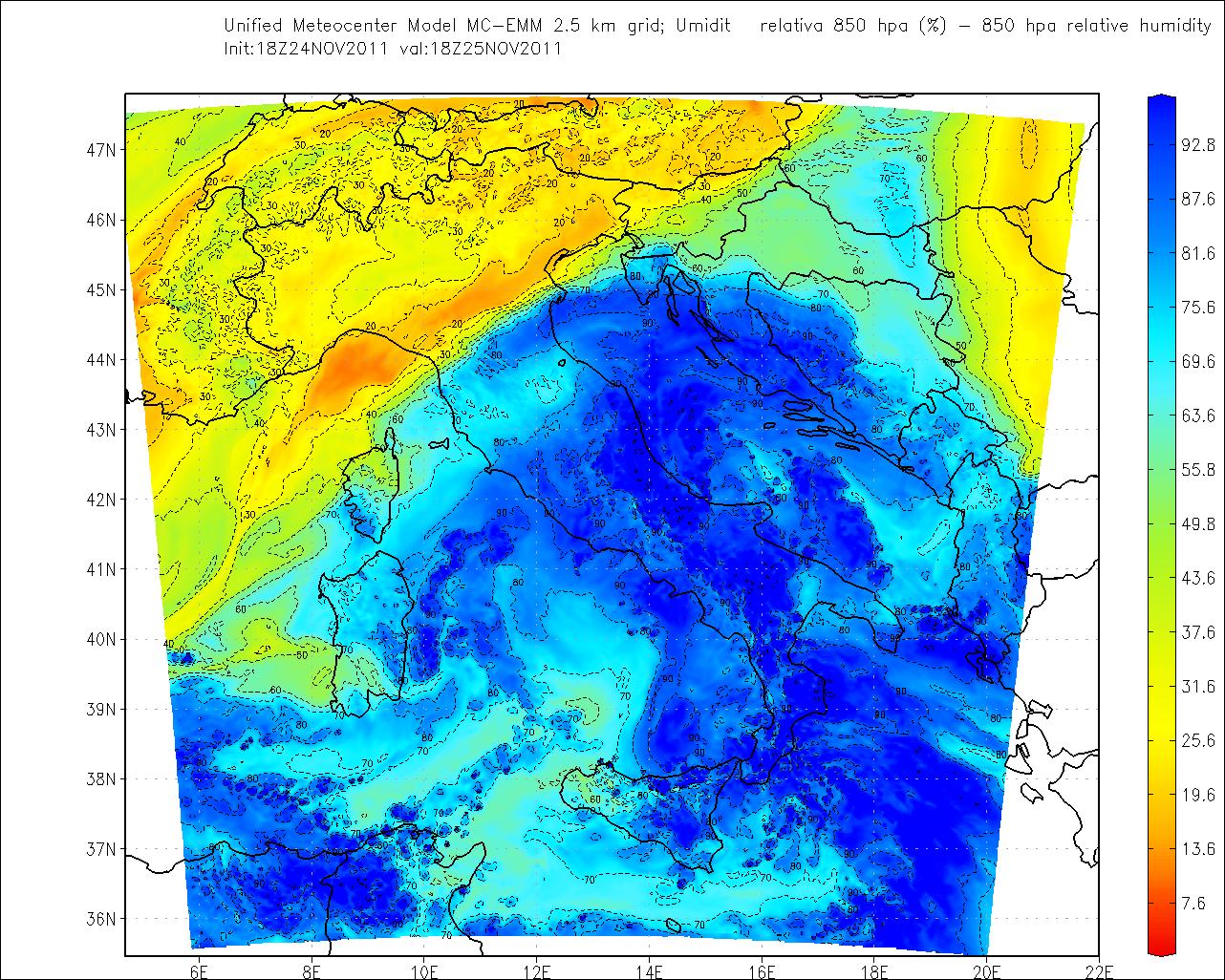 Umidità 25 Novembre 2011
