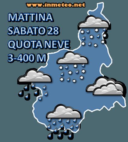 Previsione Sabato Mattina Piemonte