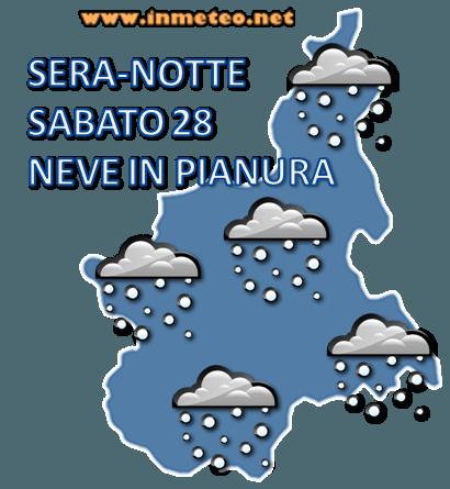 Previsione Sabato Sera - Notte Piemonte