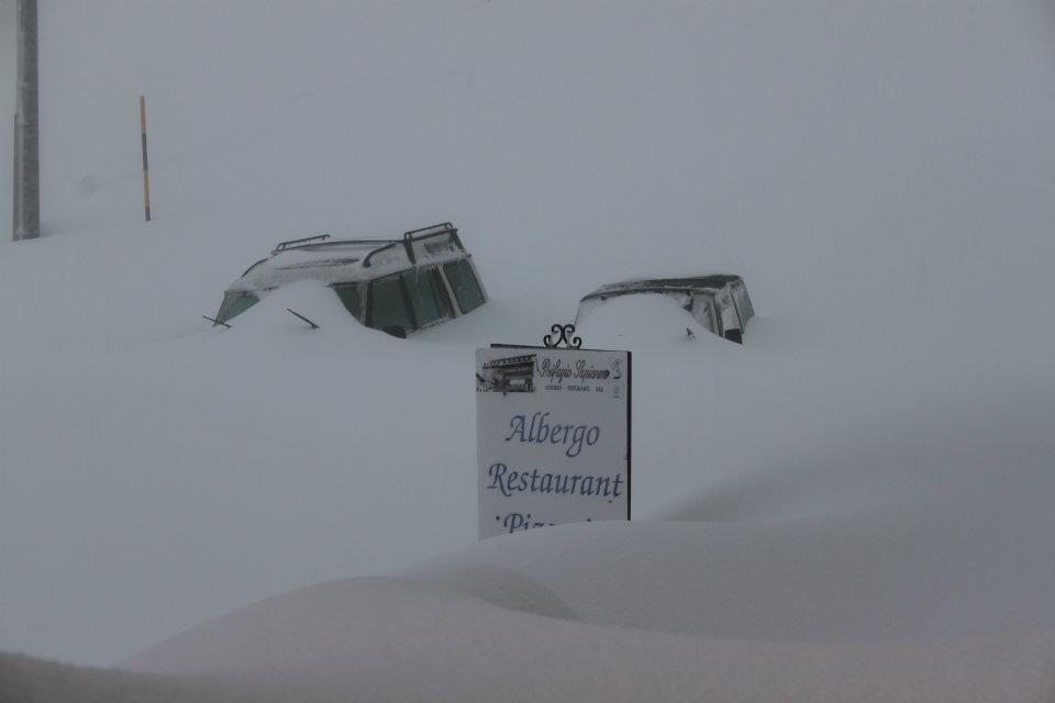 200 cm di neve sull'Etna