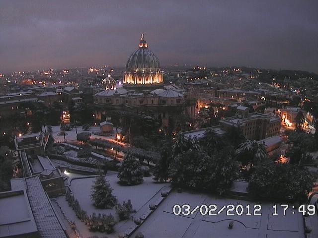 Il Vaticano innevato