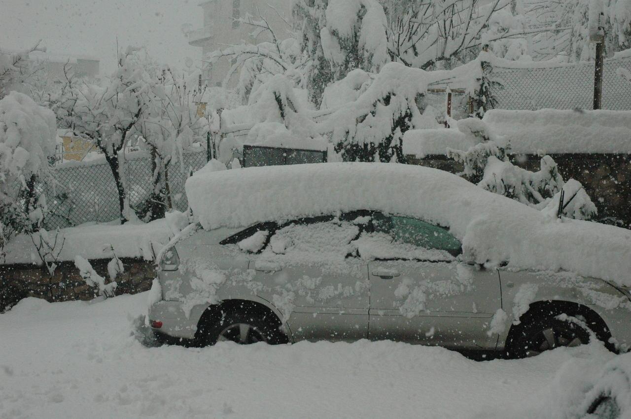 Neve in provincia di Frosinone questa mattina (quasi 1 m di accumulo). Fonte MeteoNetwork