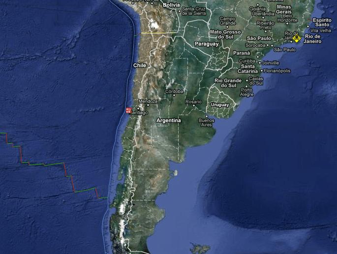 Terremoto in Cile magnitudo 7.1 25 Marzo 2012