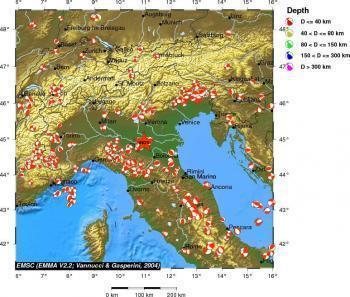 Emilia Romagna - Oltre 40 scosse