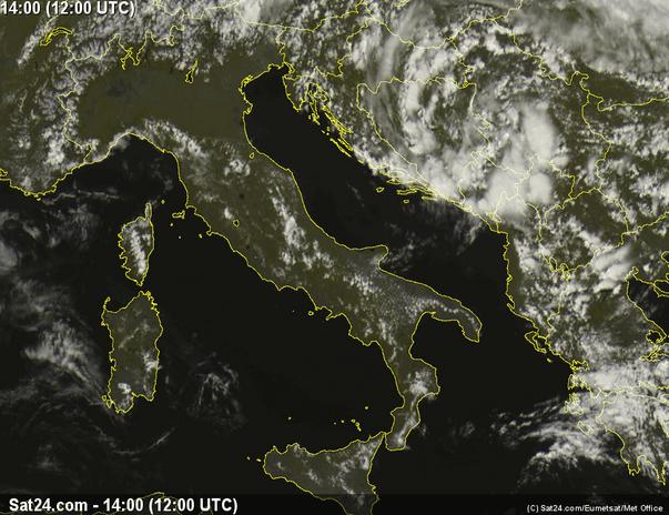 Situazione meteo - Immagine dal satellite