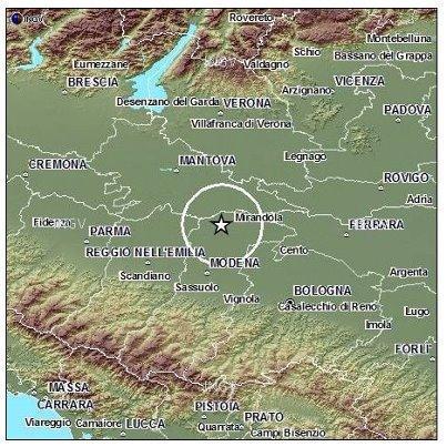 Scossa Moglia - Terremoto Emilia Romagna