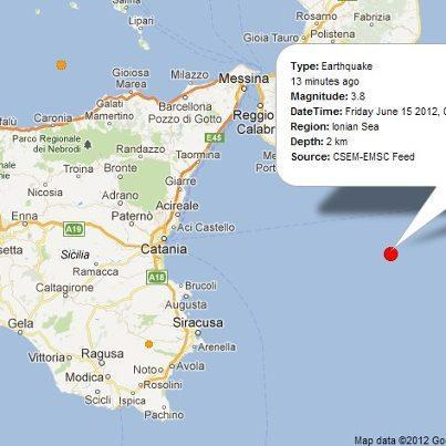 Terremoto Mar Ionio