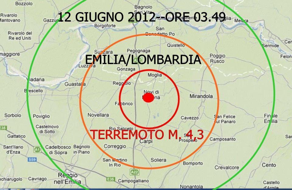 Forte Terremoto a Novi