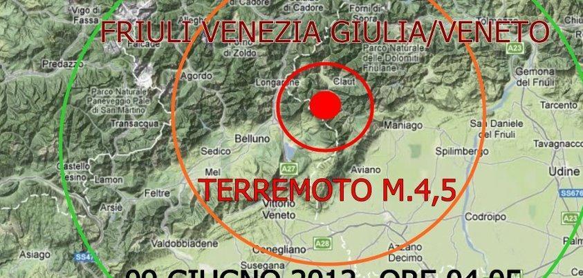 Terremoto Belluno - trema il Veneto nella notte
