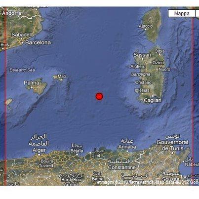 Terremoto a largo della Sardegna