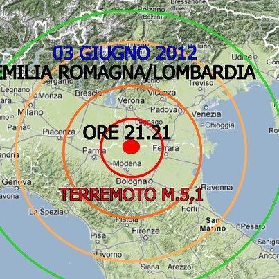 Terremoto in Emilia - Epicentro