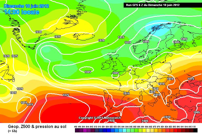Maltempo Gran Bretagna - Campo di bassa pressione - GFS