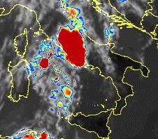 Temporale su Roma - Satellite
