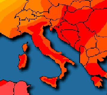 Temperature in costante aumento - 37.7 a Firenze. Oltre 30 quasi ovunque