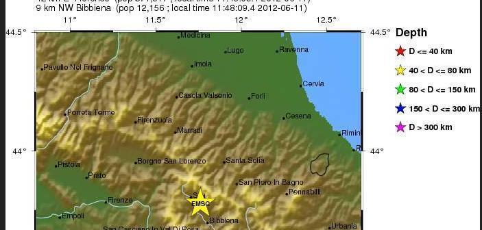 Terremoto Toscana - 3.5 Richter