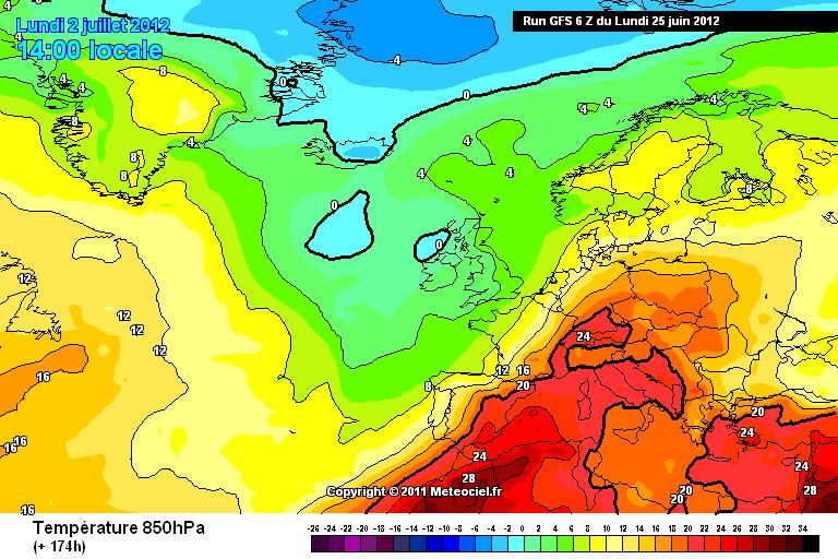 Gran caldo sull'Italia fra fine mese e inizio Luglio