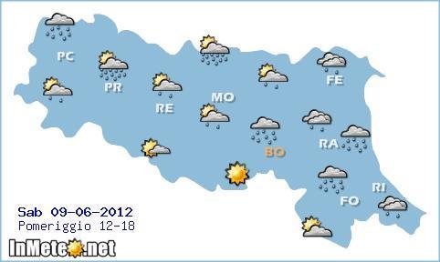 Previsioni Emilia Romagna - Meteo Sabato