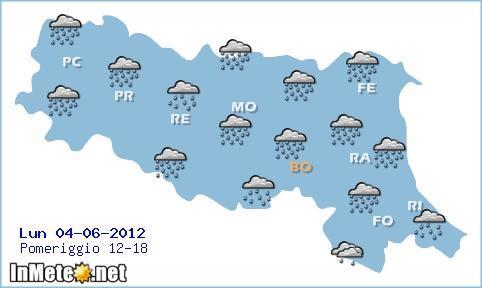 Previsioni Meteo Emilia Romagna - Pomeriggio