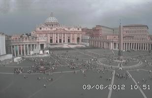 Temporale su Roma - cielo minaccioso dalla webcam della capitale