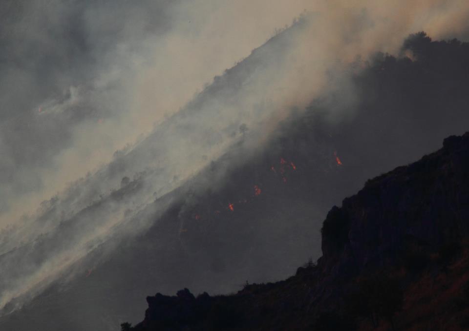 Incendi sul Pollino