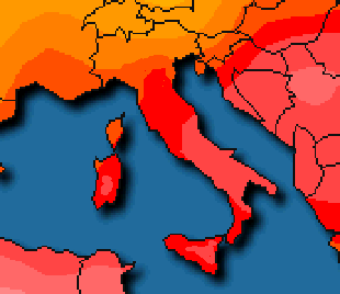 Temperature massime elevate al Centro-Sud