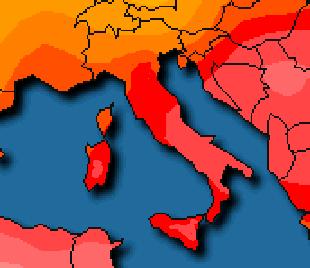 Temperature massime elevate al Centro-Sud
