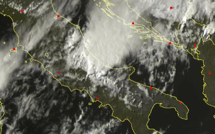 MCS visto dal satellite su Abruzzo e Molise. Intenso Maltempo
