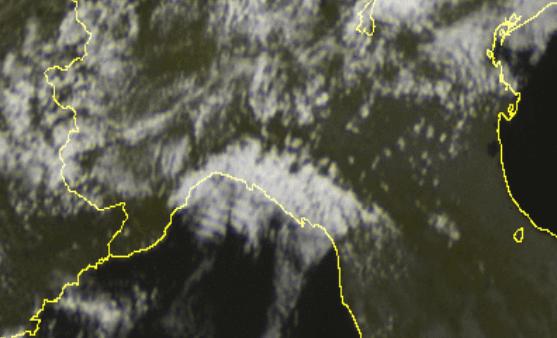Meteo Liguria : leggera instabilità sulla Riviera di Levante e nell'entroterra vista dal Satellite