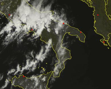 Meteo Puglia - Situazione satellitare ore 12.30