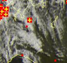 Nuvolosità convettiva sulla Lombardia - sat24.com