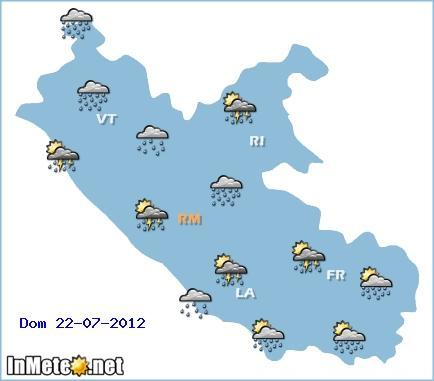 Previsioni Meteo Lazio Domenica 22 Luglio 2012