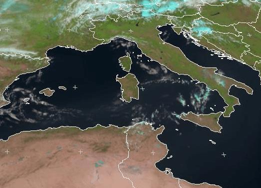 Sabbia nei nostri cieli - Immagini satellitari