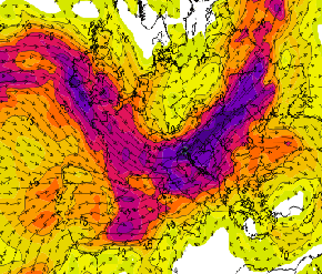 Wind Shear intenso sull'Europa dell'Est