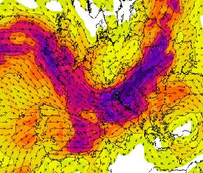 Wind Shear intenso sull'Europa dell'Est