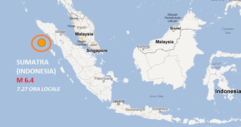 Terremoto 6.4 Sumatra