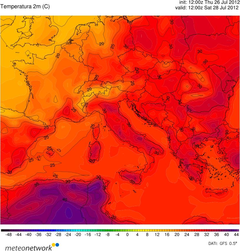 Gran caldo al Centro-Sud nel fine settimana, con picchi di 40 gradi