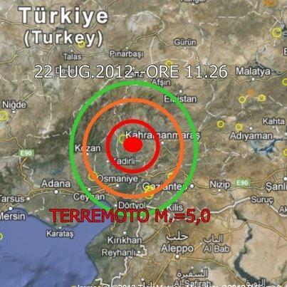 Terremoto Turchia  22/7/2012